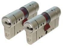 Cylindre européen haute sureté MACH V S'entrouvrant par 2