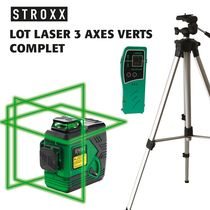 Lot niveau laser 3 axes verts complet